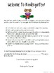 Editable Kindergarten Readiness Test