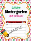Editable Kindergarten Sign In Template