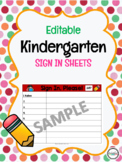 Editable Kindergarten Sign In Template