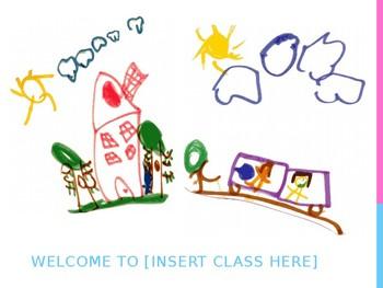 Editable Kindergarten Welcome Poster Door Sign