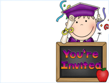 Editable Kindergarten or Preschool Graduation Invitation