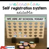 Editable Kmart hack   'Connect Four' to record attendance or students sign in
