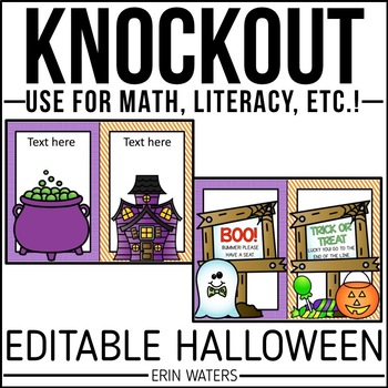 Editable Knockout {Halloween Version}