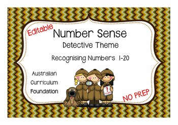 Editable - Knowing Numbers 1-20