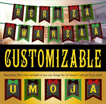 Editable Kwanzaa Banner! HERI ZA KWANZAA (Happy Kwanzaa)