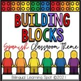 Editable LEGO BLOCK Classroom Theme in Spanish