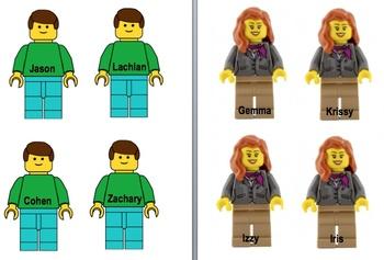 Editable LEGO Math Goals Display