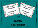 Editable LLI Award Certificates