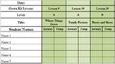 (Editable) Green Kit LLI Reading Assessments [every 10 lessons]