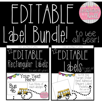 Editable Label Bundle! {To Use All Year!}