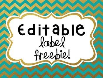 Editable Label FREEBIE!