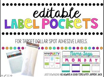 Editable Label Pockets (For Target Adhesive Label Pockets - 2016 version)