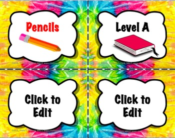 Editable Labels Pack (Pink/Yellow Tie-Dye)