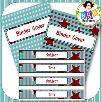 Editable Label Set - Red & Blue Set 3B