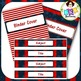 Editable Label Set - Red & Blue Set 4B