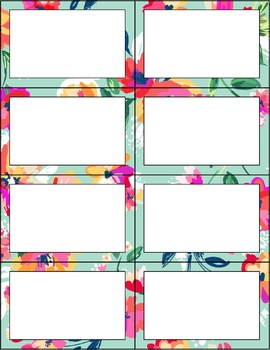 Editable Label Templates: Floral | Classroom Decor by The Decor Store