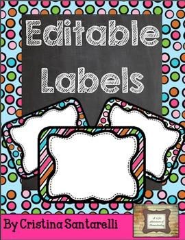Editable Labels