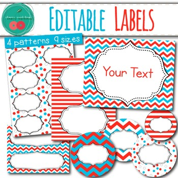 Dr Seuss Inspired Editable Labels