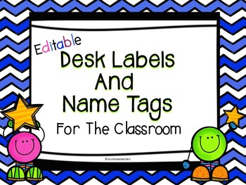 Editable Desk labels and Name Tags