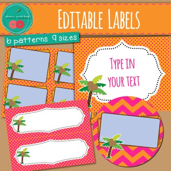Chicka Chicka Boom Boom Inspired Editable Labels