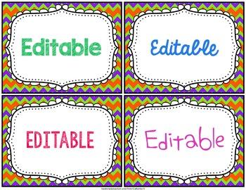 Editable Labels Templates
