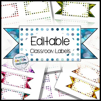 Editable Labels with 24 Polka Bokeh Options