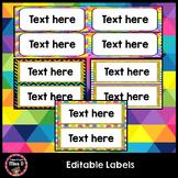 Editable Classroom Labels, Name Labels, Book Labels