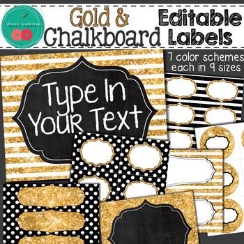 Glitter Editable Labels