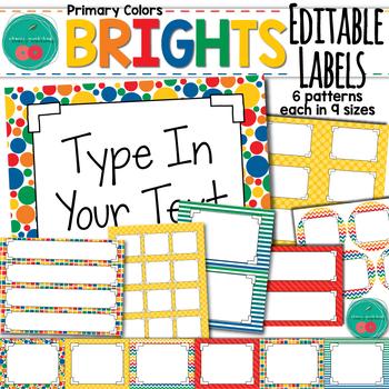 Bright Editable Labels