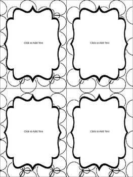 Editable Labels (4 sizes & 6 designs) in Black & White Part 1