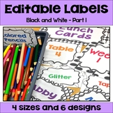 Editable Labels in Black and White Part 1