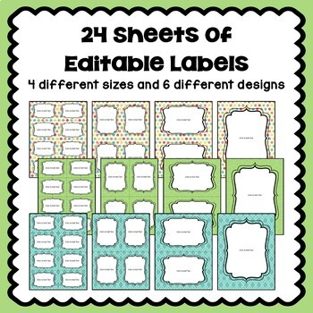 Editable Labels in Pastel Colors Part 1