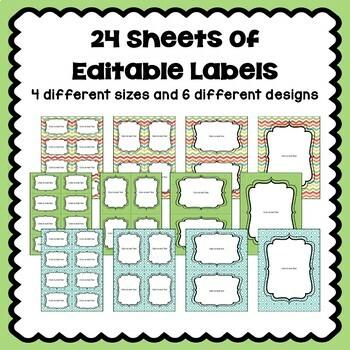 Editable Labels in Pastel Colors Part 2