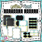 {Teal, Yellow, Gray} Editable Labels Assorted Sizes