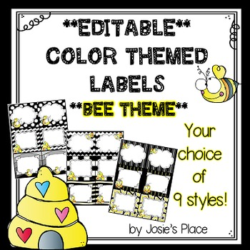 Editable Labels BEE THEME