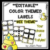 Editable Labels BEE THEME