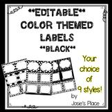 Editable Labels BLACK