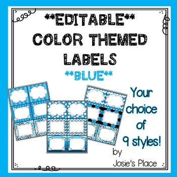 Editable Labels BLUE