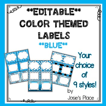 Editable Labels BLUE
