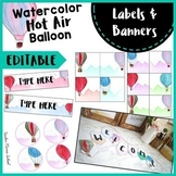 Editable Labels | Banners | Teacher Toolbox Labels | Steri