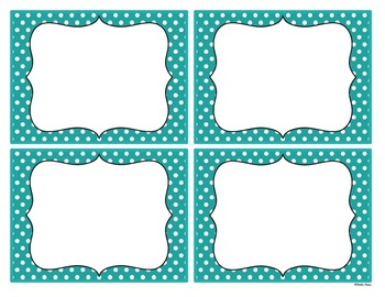 Editable Labels - Beautiful Blue with Chalkboard