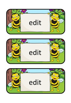 Editable Labels – Bee Theme