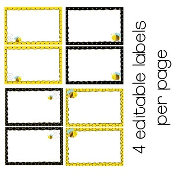 Editable Labels - Bees