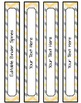 Editable Labels, Binder Covers & Spines - Chevron Yellow & Gray