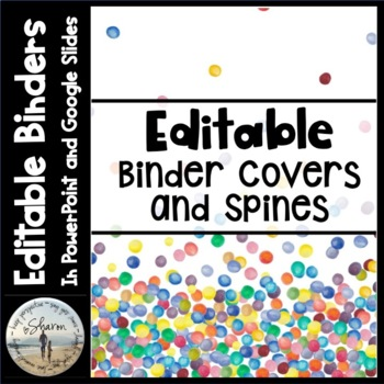 editable labels binder covers spines confetti by sharon oliver
