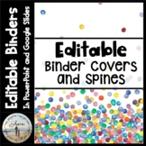 Editable Binder Covers & Spines - Confetti