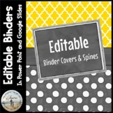 Editable Binder Covers & Spines - Gold & Charcoal Gray