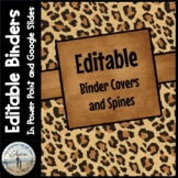 Editable Binder Covers & Spines - Leopard