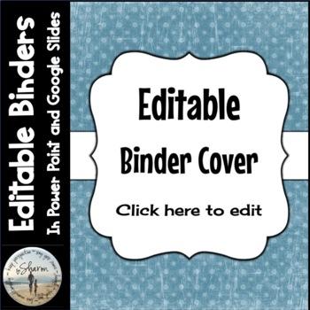 Editable Labels, Binder Covers & Spines - Light Blue Dot