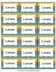 Editable Labels, Binder Covers & Spines - Teal & Mustard